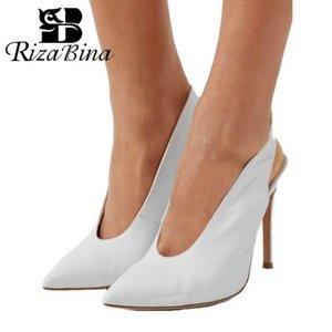 Dress Shoes RIZABINA Plus Size 35-45 Women Pumps Brand Fashion Designer Pointed Toe Sexy High Heels Wedding Party Footwear