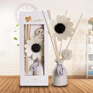 Hot sale lavender fire-free aromatherapy set custom rattan ceramic essential oil volatile aromatherapy perfume