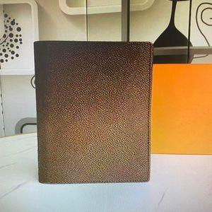R20100 Memo Orta Gündem Not Defteri Kapak Beyaz Kağıt Dizüstü Gerçek Deri Ofis Dergisi Jotter Kredi Kartı Tutucu Yuvaları ile Kutusu