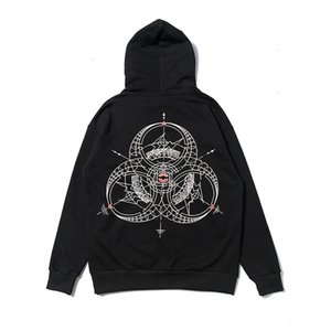 brand CLO T three-party joint sticker embroidered cotton terry high quality hooded sweater