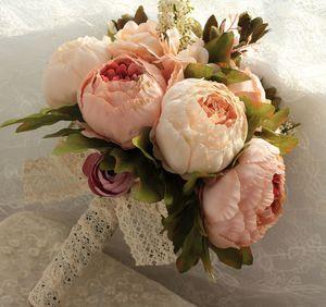 Şampanya Hattı Çiçek Ipek Yapay Çiçekler Gelin Buketleri Ev Dekorasyon Şakayık Düğün Tedarikçisi Buketi Ucuz Satış