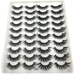 NEW 20 pairs 18-25mm fake Eyelashes 100% Mink Eyelashes Mink Lashes Natural Dramatic Volume Extension False