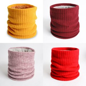 Men Women Pure Color Scarf Lady Autumn Winter Fashion Plush Thickening Keep Warm Knitting Windproof Scarves 7 9yy J2