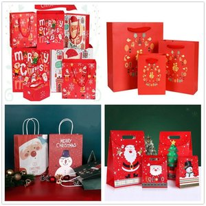 New Year Spring Festival Chinese Red Gift paper Bag Packaging Wedding Gift Handbag party favor candy Tote Bags Wrapping