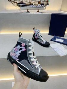 Üst en iyi sınırlı sayıda özel baskılı tuval ayakkabılar, moda çok yönlü yüksek ve düşük ayakkabılar, orijinal ambalajlı ayakkabı kutusu teslimat 34-45
