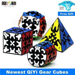 Newest Qiyi Gear 3x3 Magic Cube Pyramind Cylinder Sphere 3x3x3 Speed Cubes Gear Professional Cubo Magico Anti Stress Toys 201219