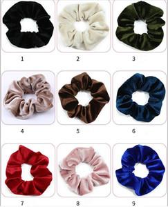 Samt Stirnband Scrunchies Girls Hairband Frauen Pferdeschwanz Haarhalter Süßigkeiten Elastische Haar Krawatten Seile Headwear Haarschmuck GWE3641