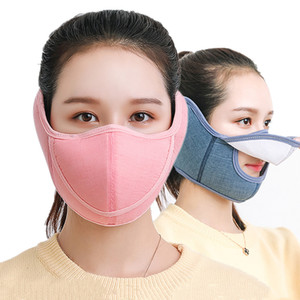 Fashion Face Mask Pure Colors Open Bandage Style Ear Nose Mouth Masks Sport Anti Wind Dust Proof Mascherine Hot Sale 5 4ty L2