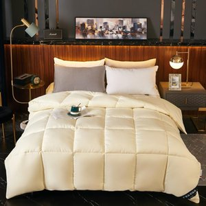 Winter Cotton Feather Velvet Quilt Hotel Velvet Quilt Thickened, Warm Core Increased Pure Color Simple Household Bedding