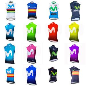 Movistar Team Велоспорт Рукавов Джерси Жилет Pro Велосипед Ропа Ciclismo Высокое Качество Открытый Горный Велосипед Спортивная Одежда Велосипеда Одежда 101709