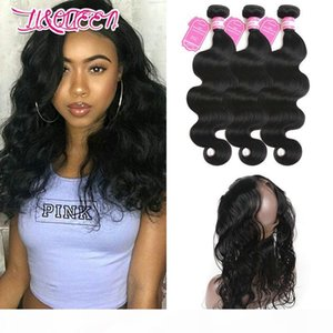 Indian 3 Bundles With 360 Lace Frontal Body Wave From Likebeautyhair 4 Pieces Indian Human Hair Body Wave Bundles With Pre Plucked Frontal