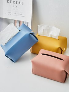 Paper Towel Container Facial Napkin Bag Holder Home Desktop Organizer Car Seat Storage Removable Tissue Case Leather Wipes Box Z1123