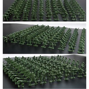 100PCS 5cm Plastic Soldier Model World War II Soldier Military Learning Education Toys Set for Children