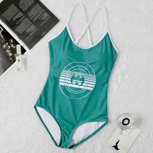Green Imprimir Swimwear acolchoado Push Up Mulheres One-peça Swimsuits Ao Ar Livre Beach Natação Bandage Deve Swimsuit Four Seasons Universal