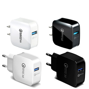IB370 QC 3.0 US EU Adaptive Fast Charging Home Travel Wall Charger Plug Cable USB-Kabel für Samsung Galaxy