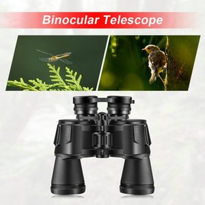 10x50 Hd Low Light Sightseeing Binocular Âmbito Night Vision pássaro watching Camping Caça BaK4 Prism Telescope Kit