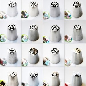 Russian Icing Piping Rose Flower Cream Nozzles Cake Decoration Tips Pastry Tool 68 Designs DHA1052