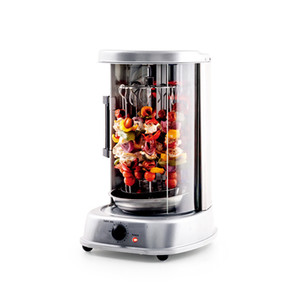Máquina giratoria giratoria vertical de encimera, máquina de shawarma, eficiente con puerta resistente al calor, bastidor de kebob con 7 máquinas de barbacoa