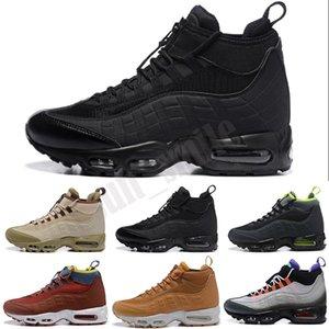95 Sneakerboot 2020 جديد 95 ثانية رجل sneakerboot الأسود الجيش الأخضر الجشع الأحمر مصمم الرجال عالية الرياضة المدرب الركض أحذية رياضية