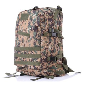 Outdoor Unisex 3D Tactical Backpack Large Capacity Camouflage Bag Molle System Waterproof Fabric Camping Hiking