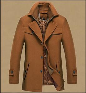 Woollen Coat Gentlemen Coats hot sale Mens Fashion Jackets Woollen Overcoat with Permanent Press and Cotton Scarf