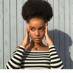 Cool Hair Accessories Extensions Natural Ponytails Afro Drawstring Ponytail Kinky Curly Ponytail Short High Sports Ponytail for black women