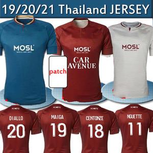 20 21 FC Metz Soccer Jerseys Diallo 20 Centonze 18 Vagner 27 Niane 7 Fofana 6 Home 2020 2021 Jersey Football Shirts تايلاند الأعلى