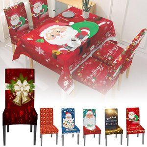 1Pc Chair Cover Table And Stool Tablecloth Christmas Elastic Sofa Cover Santa Claus Christmas Family Party Decoration