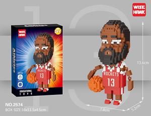 جزيئات صغيرة الرياضة ستار لاعب اللبنات اللبنات لغز تجميع لاعب كرة السلة دمية نموذج طفل لعبة هدية
