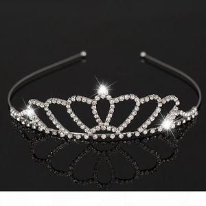 K New Fashion Silver Bridal Wedding Tiara Crown Jewelry Crystal Bridal Accessories Headpiece Hair Accessory For Women H039
