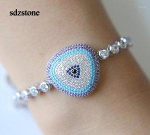 Top Quality Fábrica Promoção Branco Roxo Turquesa Pedra Namorada Romântica Presente Lucky Toda Dia Mal Eye Bracelet1