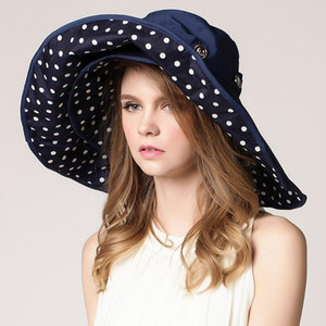 Women's sun hat Korean style big-edge beach hats summer UV protection sunscreen foldable outdoor wholesale