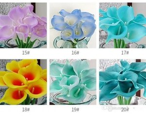 Wholesale 100pcs Real Touch Lily Simulation Wedding Flower Bouquets Artificial Calla for Bridal and Home Decoration