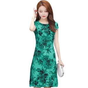 Plus Size 6XL Summer Vintage Dress Women Slim O-Neck Short Sleeve Women Dress Elegant Casual Print Plaid Dresses Vestidos LJ200810