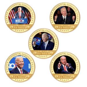 Joe Biden Placcato Gold Coin Coin Congilibles con supporto per monete USA Sfida moneta Presidente Regali di medaglia moneta originale per papà FWE3157