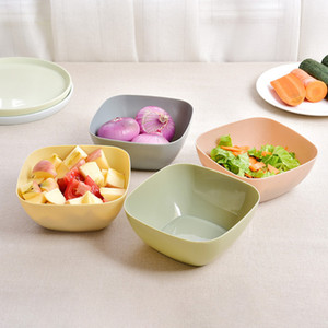 Fruit Plate Salad Bowl Melon Fruit Plate Small Snack Candy Dish Dried Fruit Bowl Food Grade Plastic Square Bowls YHM217