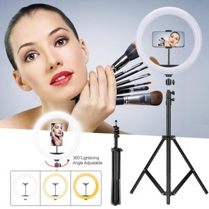For Desktop USB Mobile Phone Live Broadcast Dimmable Mini Tripod and Phone Stand with package 33 CM 12 Inch LED Selfie Ring Light Stand
