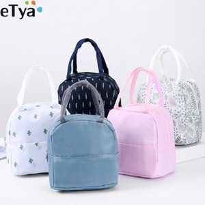 eTya Functional Tote Cooler Lunch Box Bag Insulated Fashion Thermal Lunch Bag Picnic Bags For Women Kids Students d83g#