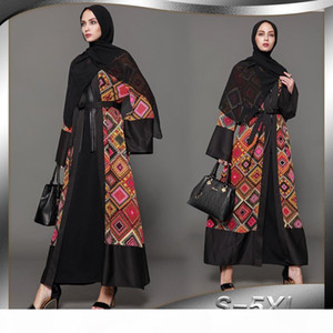 Plus Size 5XL Abaya Dubai Printed Plaid Hijab Muslim Dress Qatar UAE Abayas Women Jilbab Robe Musulmane Turkish Islamic Dress