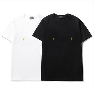 탑 럭셔리 패션 티셔츠 힙합 화이트 남자와 여성 의류 캐주얼 티셔츠 그래픽 프린트 티셔츠 사이즈 S-XXL