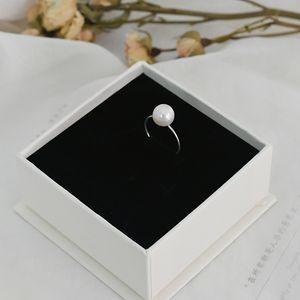 Ashiqi Real Natural Natural Pearl Pearl Anillo 925 Joyería de plata esterlina Moda de las señoras Q1219