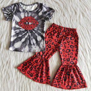 Heißer Verkaufs-Kleinkind-Baby-Designerkleidung für Milch Silk Boutique Kinderkleidung Mädchen Bell-Bottom-Outfits Großhandel Kinderbekleidung Rts