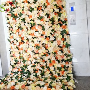 SPR 4ft*8ft roll up cloth Artificial rose flower wall wedding occasion backdrop inspiration florals decorations free shipping