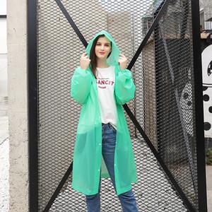 2020 New Reusable Transparent Long Raincoat Men Women Waterproof Rainwear Outdoor Jacket Unisex Cycling Hiking Rain Gear Coat