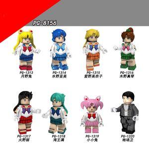 Vendita calda originale anime serie bella ragazza assemblata minifigure per bambini adulto figure figure raccolta regalo
