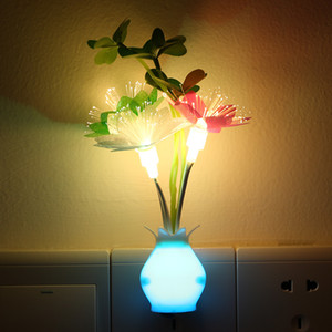 Led Induced Plug Light Tulips Rose Vase Flower Leaf Lamp Bar Home Party Lights Optically Controlled Outdoor Glow New Arrival 2 5lja N2
