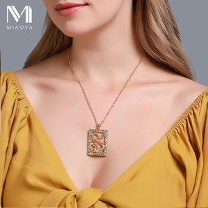 Zircon Exaggerated Gold Color Necklace Geometric Hollow Dragon Pendant Necklace Simple Christian Cross Clavicle Chain