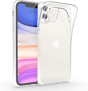 2.0mm Soft Clear Case TPU Telefone para iPhone 11 Pro Max XR XS Max 6 7 8 Plus Samsung S10 S20 Note10 Plus A51 A71 A10 A50 A50 A50 A50
