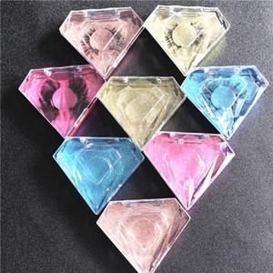 wholesales false eyelash package box lash boxes packaging custom logo faux cils mink eyelashes magnetic Diamond case box 2020