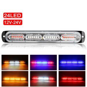 24 светодиодный автомобильный грузовик аварийный маяк света 12-24V автоматический мигающий боковой маркер батончики стробительные сигнальные огни универсальные